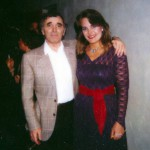 with Charles Aznavour at the Wilshire Theatre in LA 1984